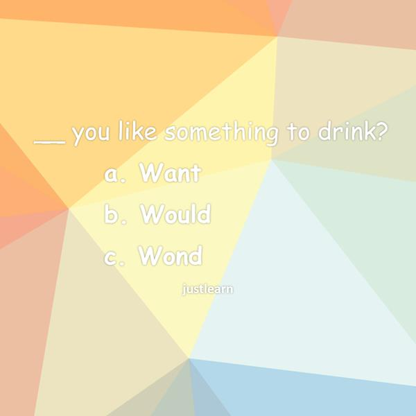 __ you like something to drink?