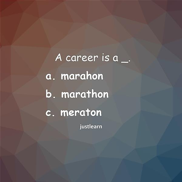 A career is a _.