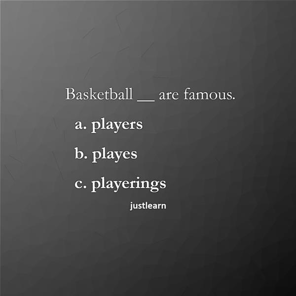 Basketball __ are famous.