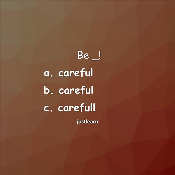 Be _!