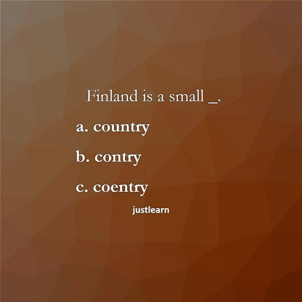 Finland is a small _.
