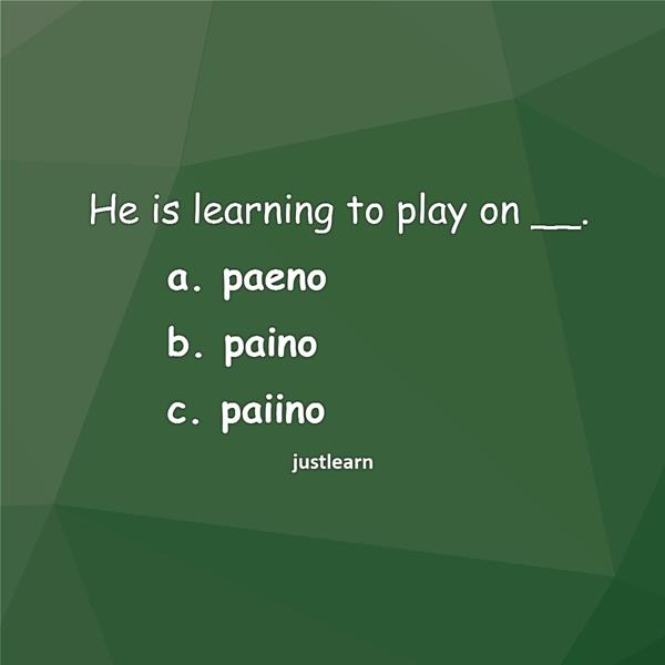 He is learning to play on __.