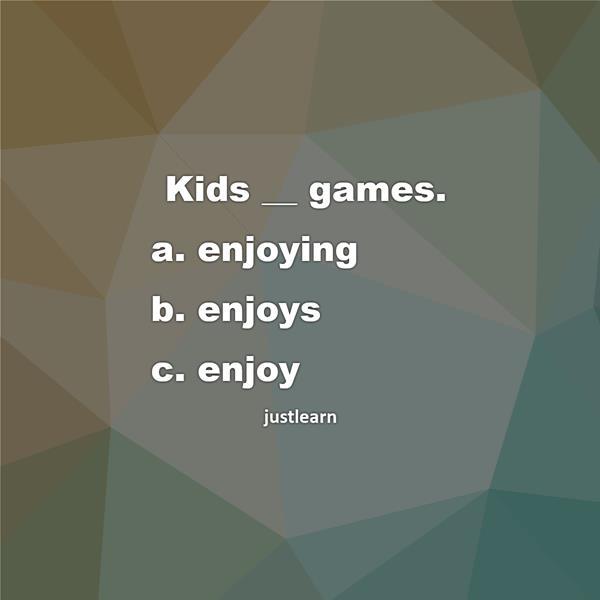 Kids __ games.