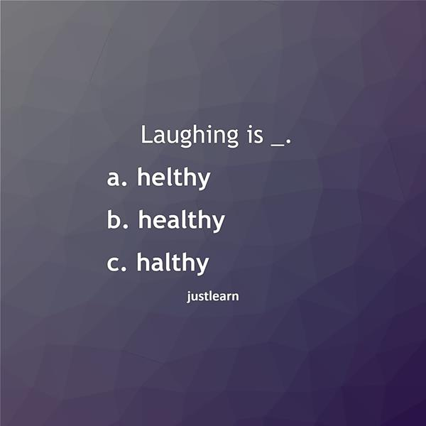 Laughing is _.