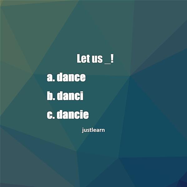 Let us _!