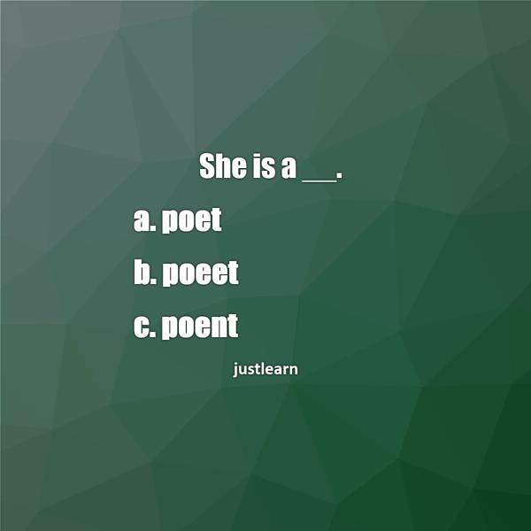 She is a __.