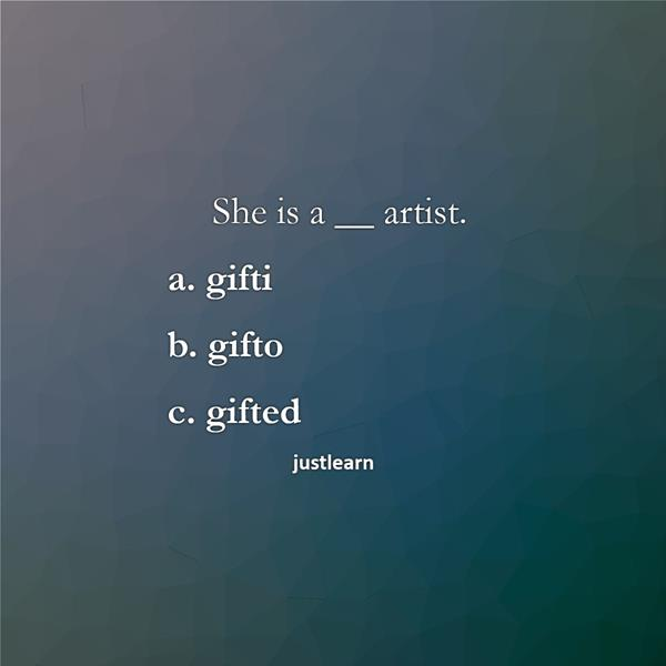 She is a __ artist.