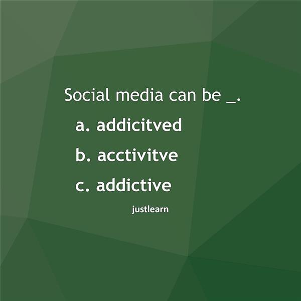 Social media can be _.