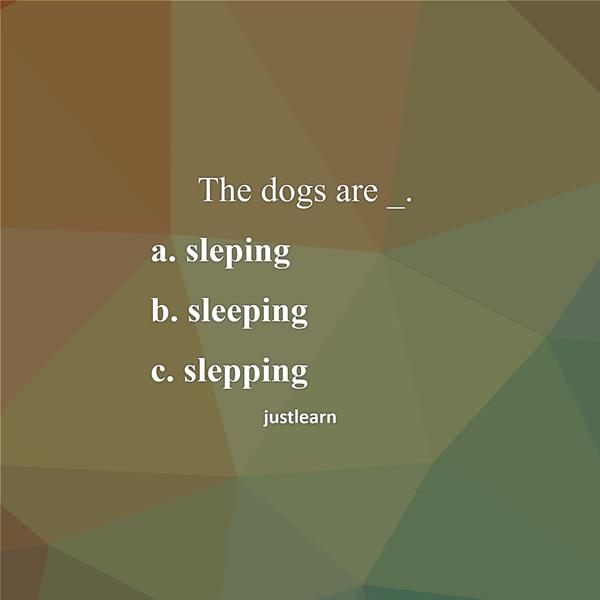 The dogs are _.