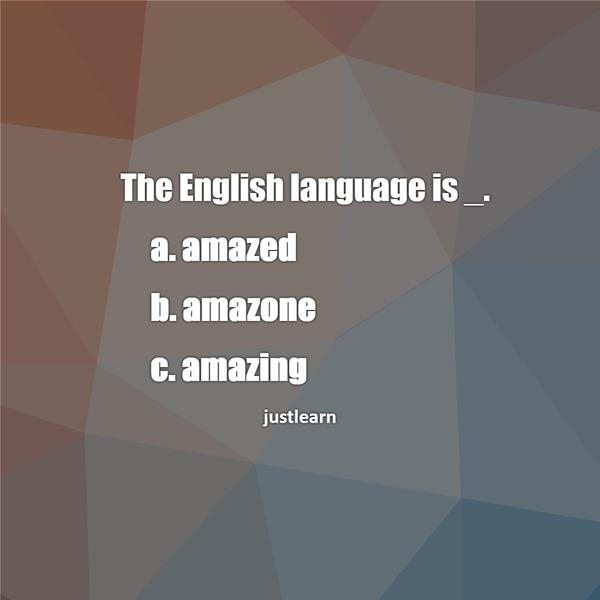 The English language is _.