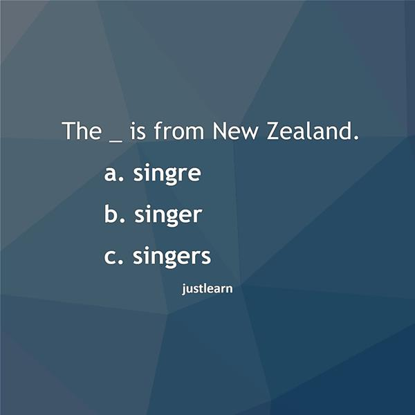 The _ is from New Zealand.