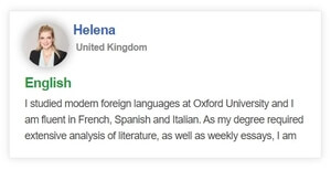 Language tutor profile