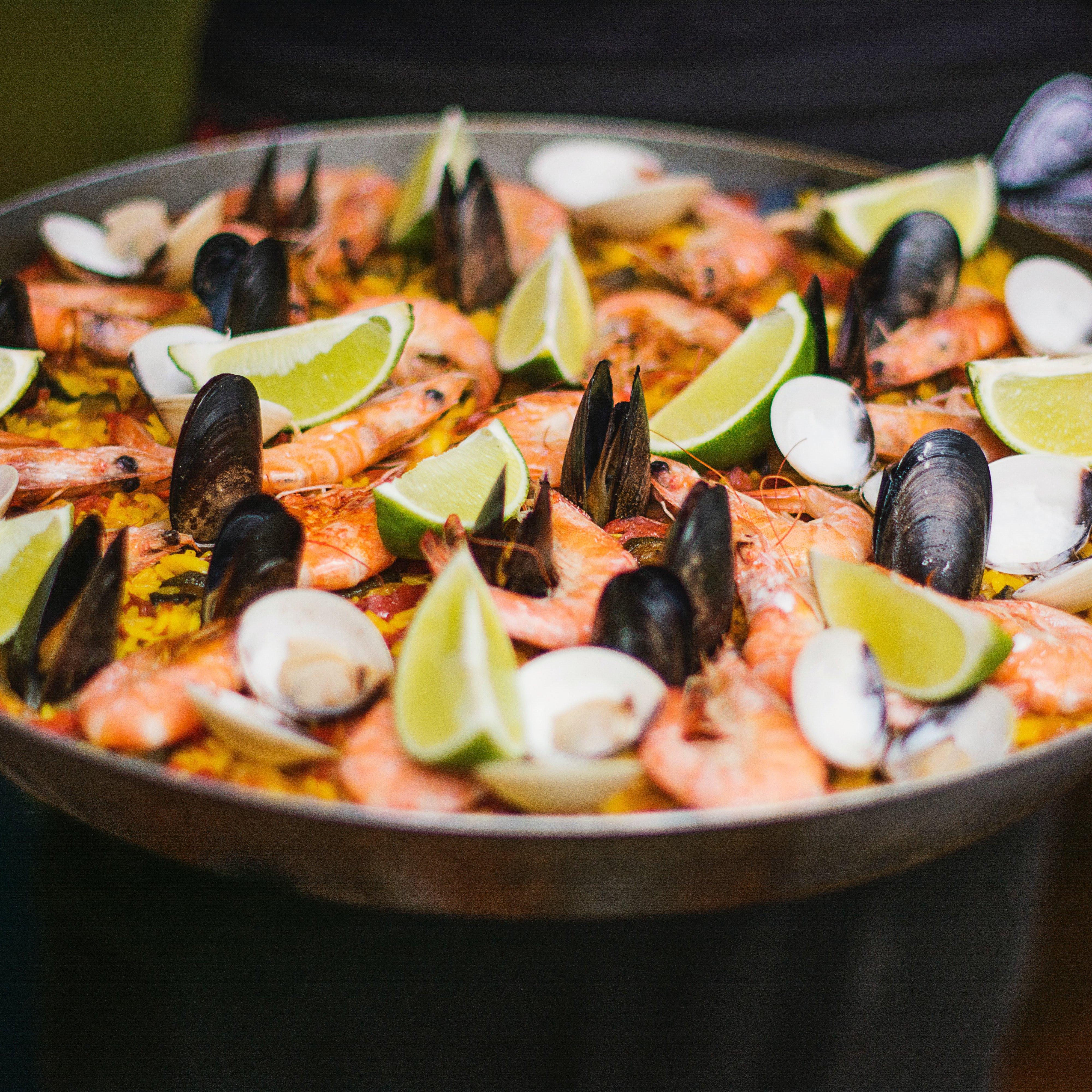 Spanish shrimp food plate